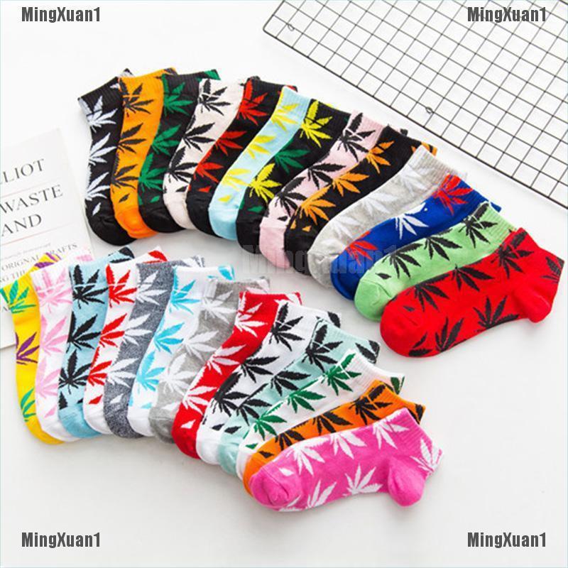 Mens Socks Marijuana Crew Ankle Low Cut Maple Weed Leaf Casual Socks