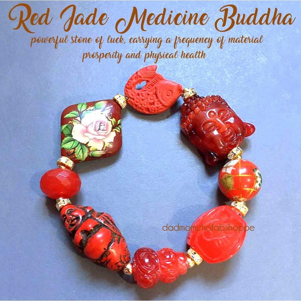 ee8d79aab9c16 Chinese Feng Shui RED JADE MEDICINE BUDDHA