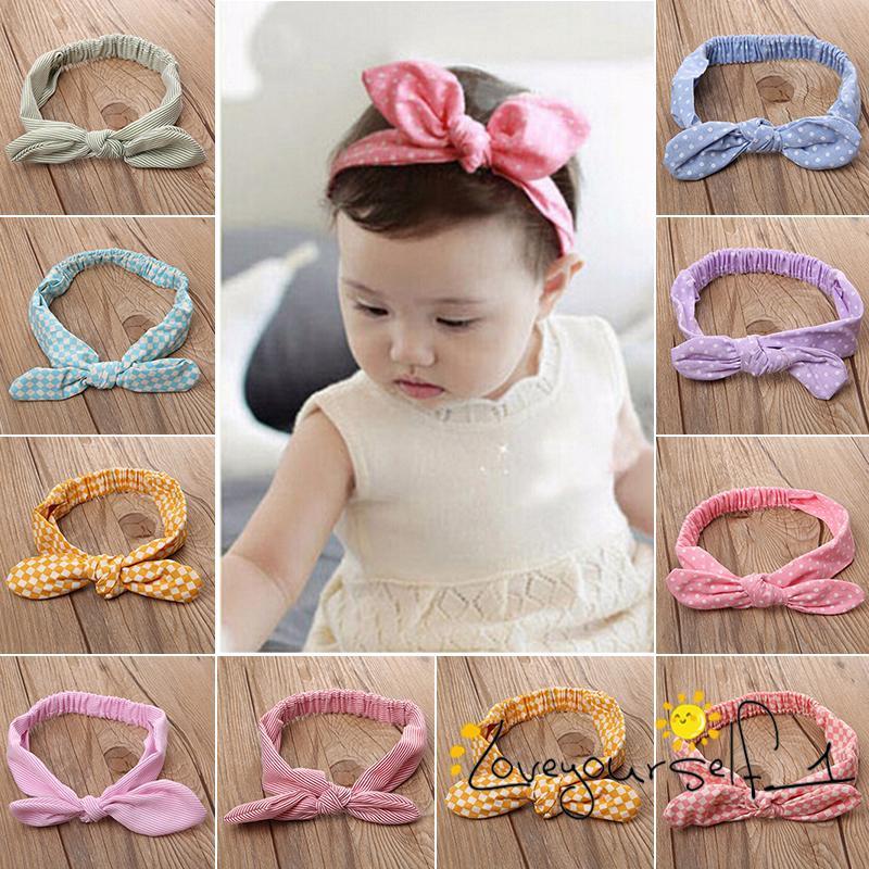 Infant Baby Cute Rabbit Ears Elastic Cloth Bowknot Headband Kids Girls Head Wrap