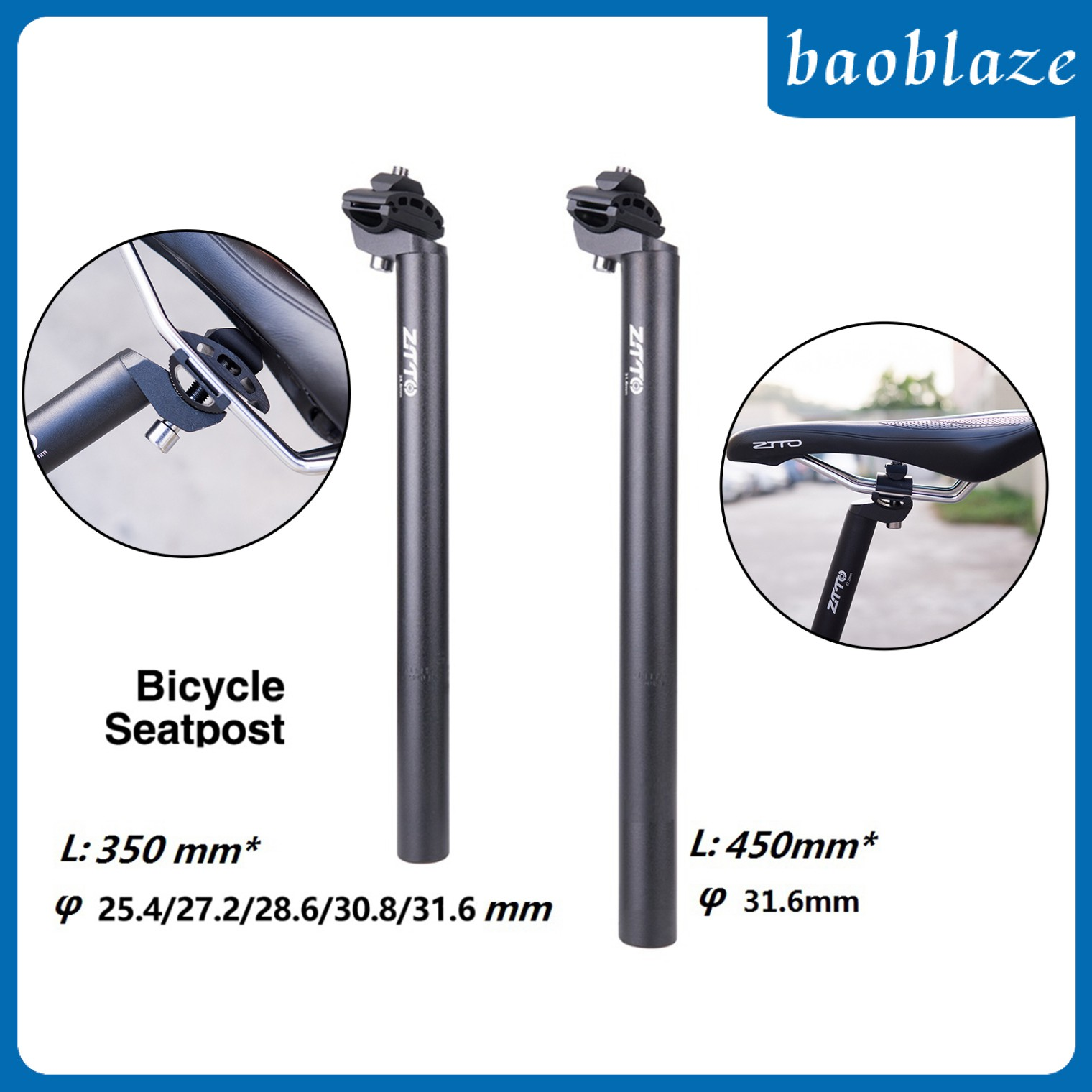 25.4//27.2//28.6//30.8//31.6mm Bicycle Seatpost 350mm 450mm Adjustable Seatpost