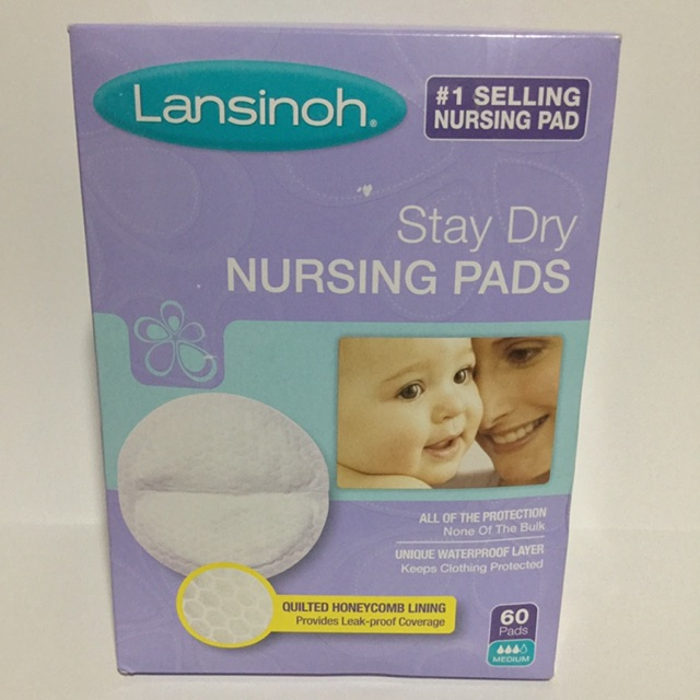 LANSINOH STAY DRY DISPOSABLE NURSING PADS 36 INDIVIDUALLY WRAPPED PADS