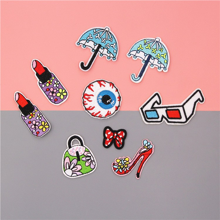 6012663efc73 Patch Iron on DIY Applique Cloth Badge Stickers for Clothes