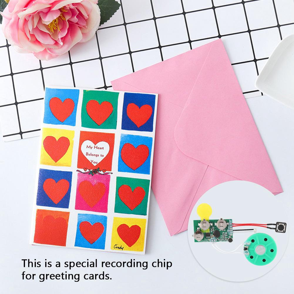 diy greeting card 60 seconds recordable voice chip module