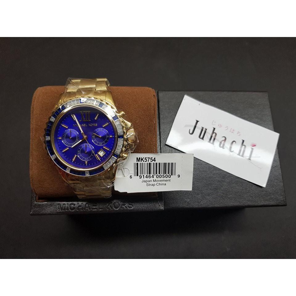 1a9c228c7a1a MICHAEL KORS Everest Chronograph Navy Dial Gold-tone MK5754