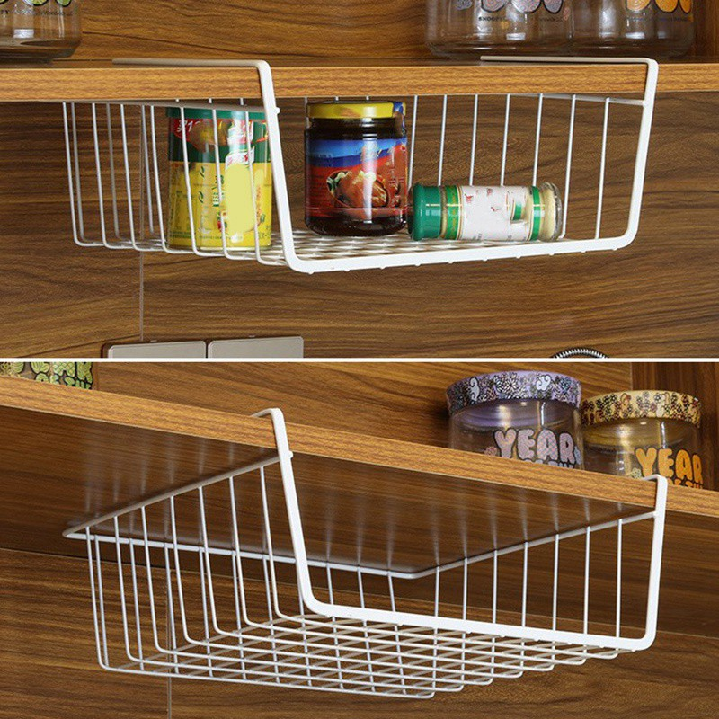 Basket 2 Pack Stainless Steel Wire Rack Space Saving Under