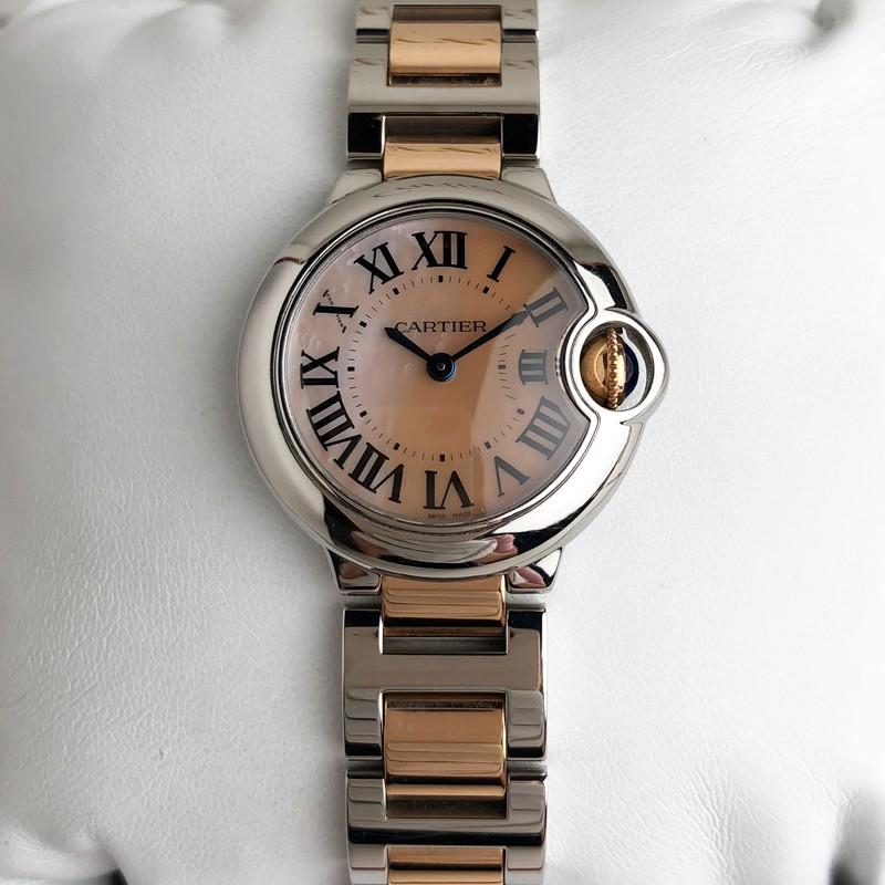 best sneakers 7dfa1 c7ec3 Second-hand Cartier Blue Balloon series rose gold quartz women's Watch  W6920034
