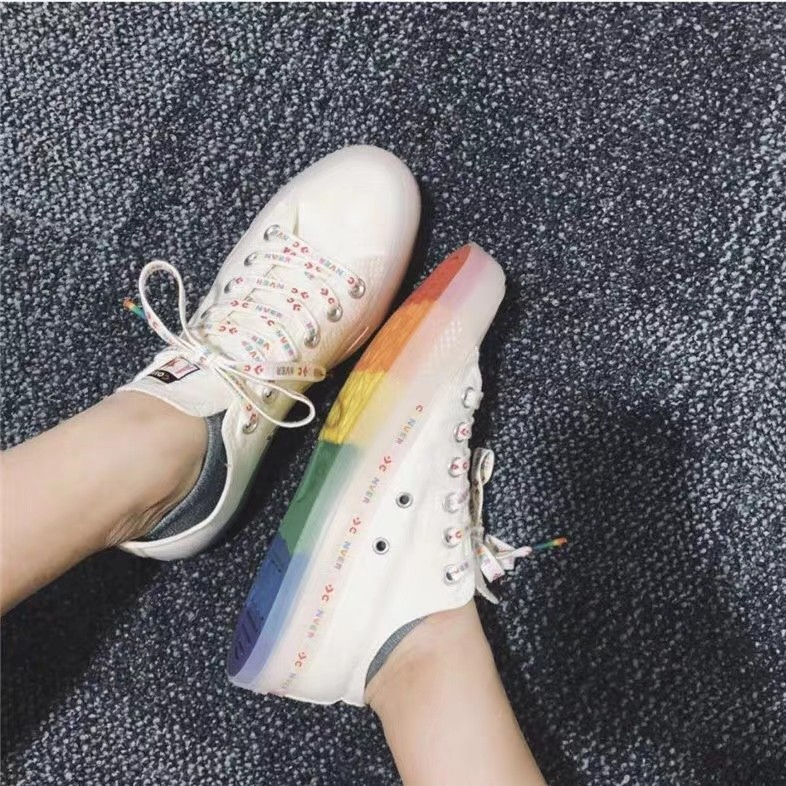 Converse All Star Converse Color jelly bottom rainbow low tube