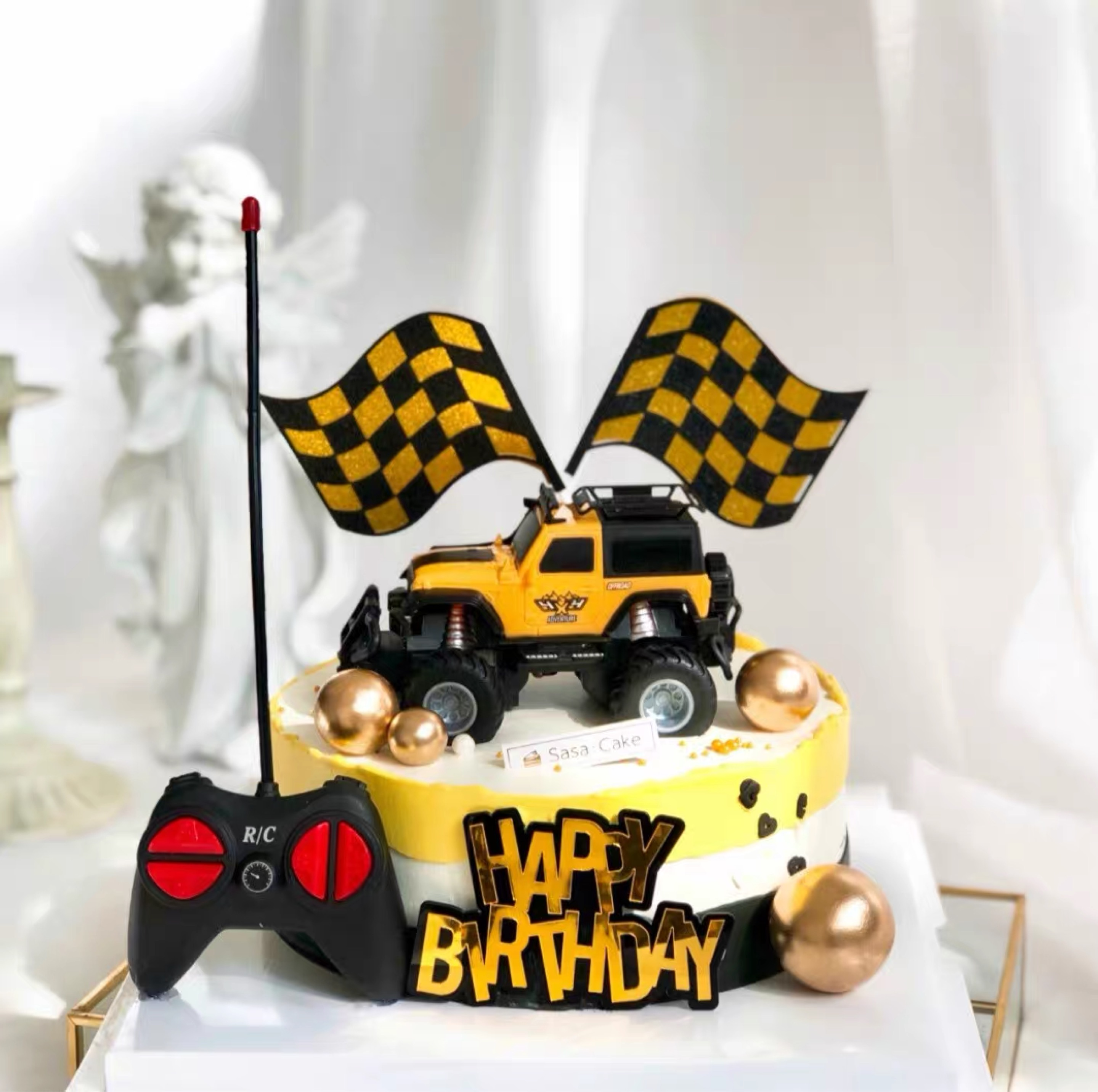 Internet Celebrity Remote Control Racing Electric Off Road Vehicle Birthday Cake Decoration Boy Play Shopee Philippines