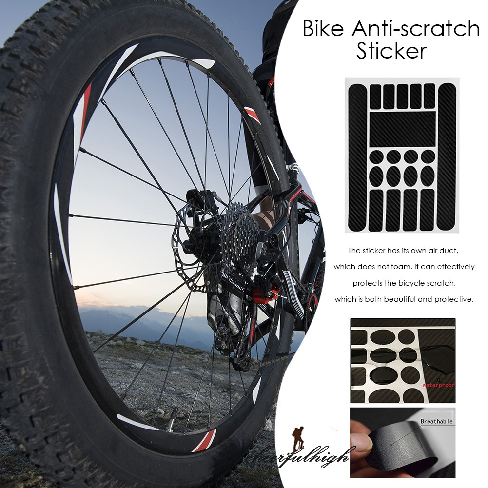 Bike PVC Stickers Bicycle Chainstay Frame Protector Anti-Scratch Decals