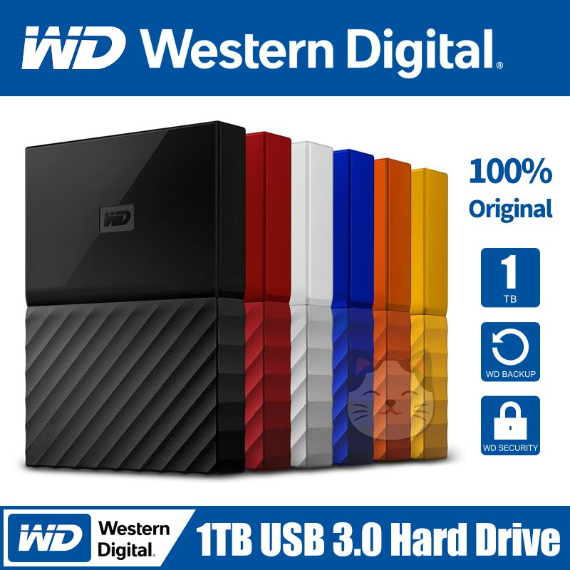WD My Passport 1TB USB 3 0 Portable Hard Drive