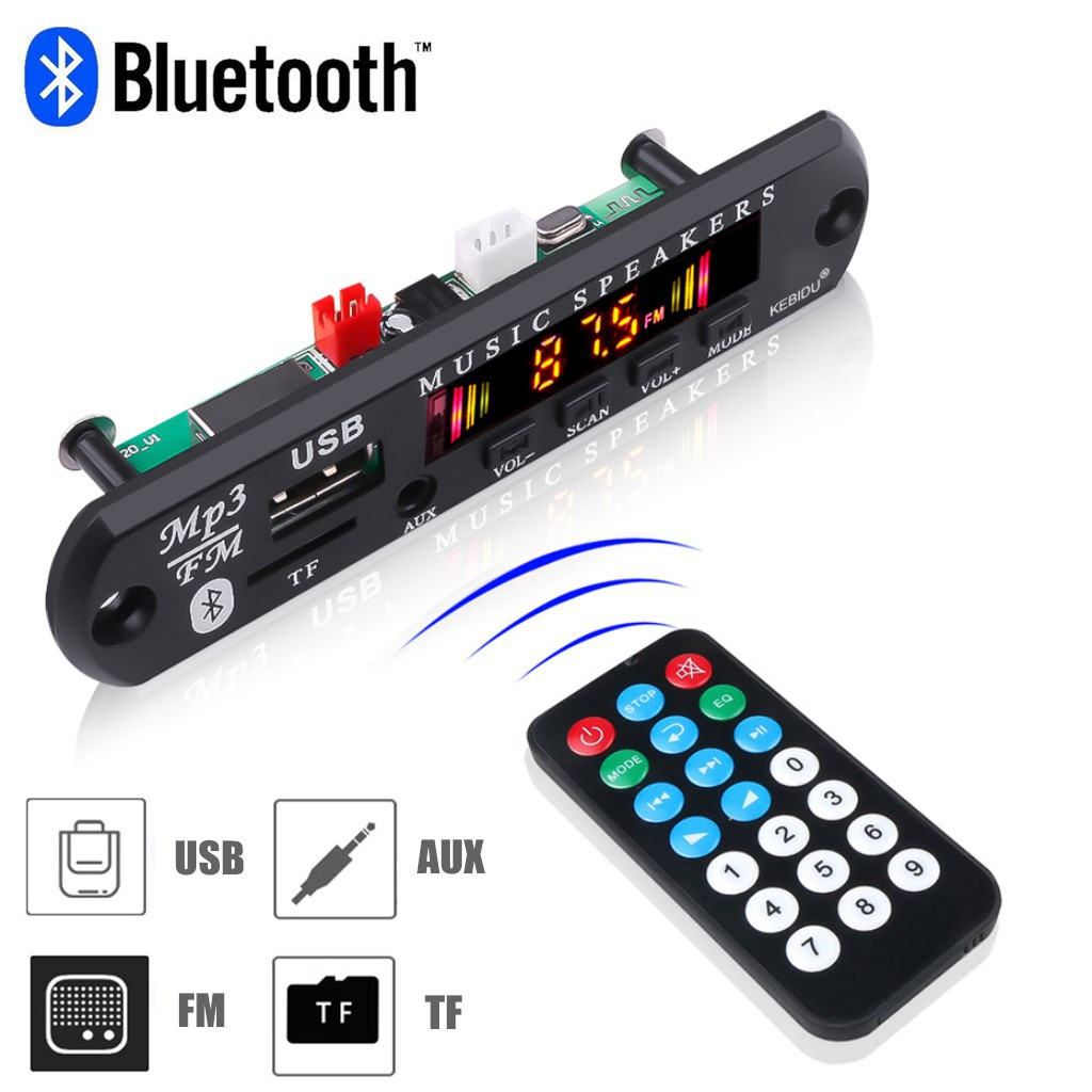 Wireless BT 12V MP3 WM Decoder Board udio Module for Car PRO /&