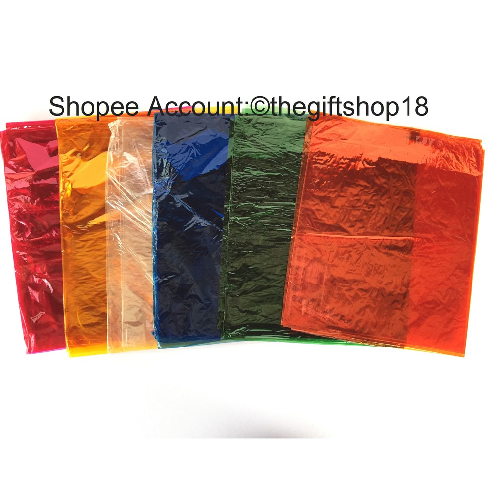 Water Cellophane With Different Colors