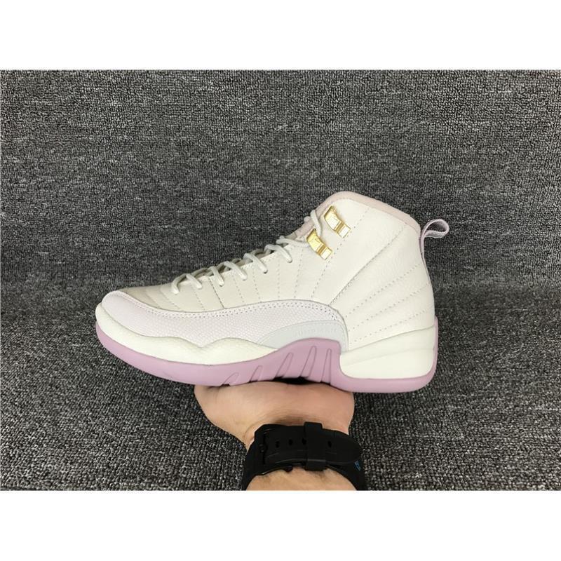 save off 705f9 bb0d1 Nike AIR JORDAN 12 RETRO Light Pink Basketball Shoes