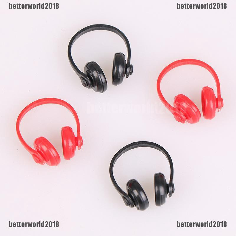 5PCS For Doll acessories plastic headphones multicolor mixed TO