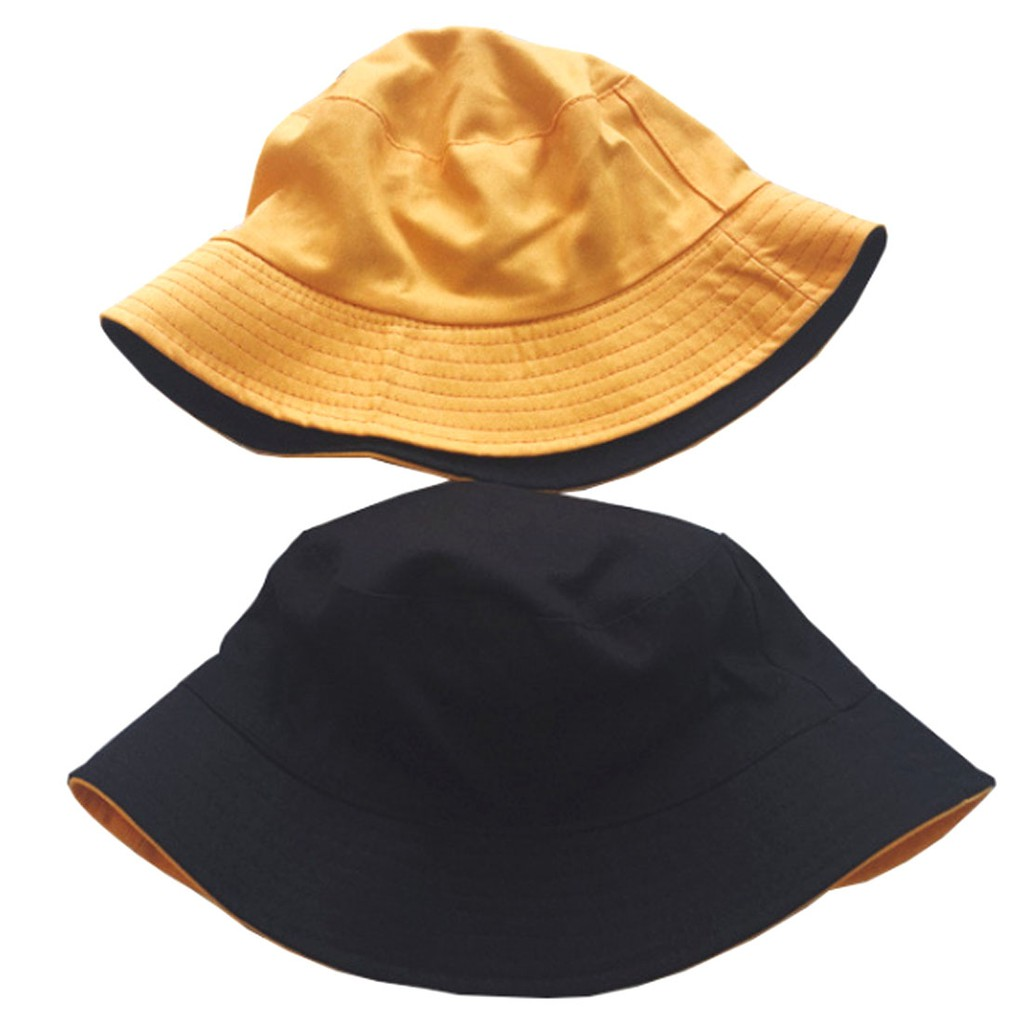 eaea10789 Unisex Breathable Double-Sided Cotton Bucket Hat Sun Cap | Shopee  Philippines