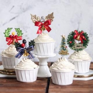 Christmas Cake Toppers.Christmas Cake And Cupcake Toppers