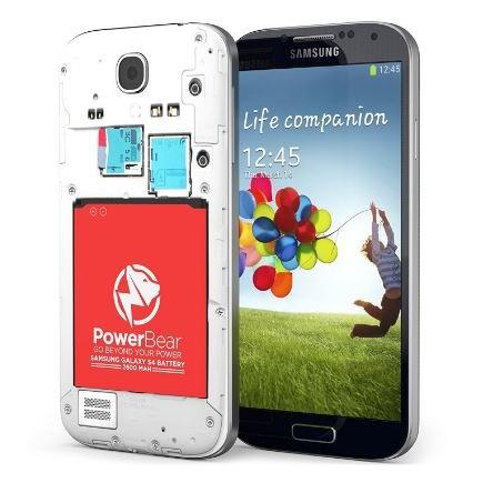 finest selection 09e02 6c4c8 PowerBear S4 2600mAh Battery Samsung Galaxy I9500 I9505 LTE
