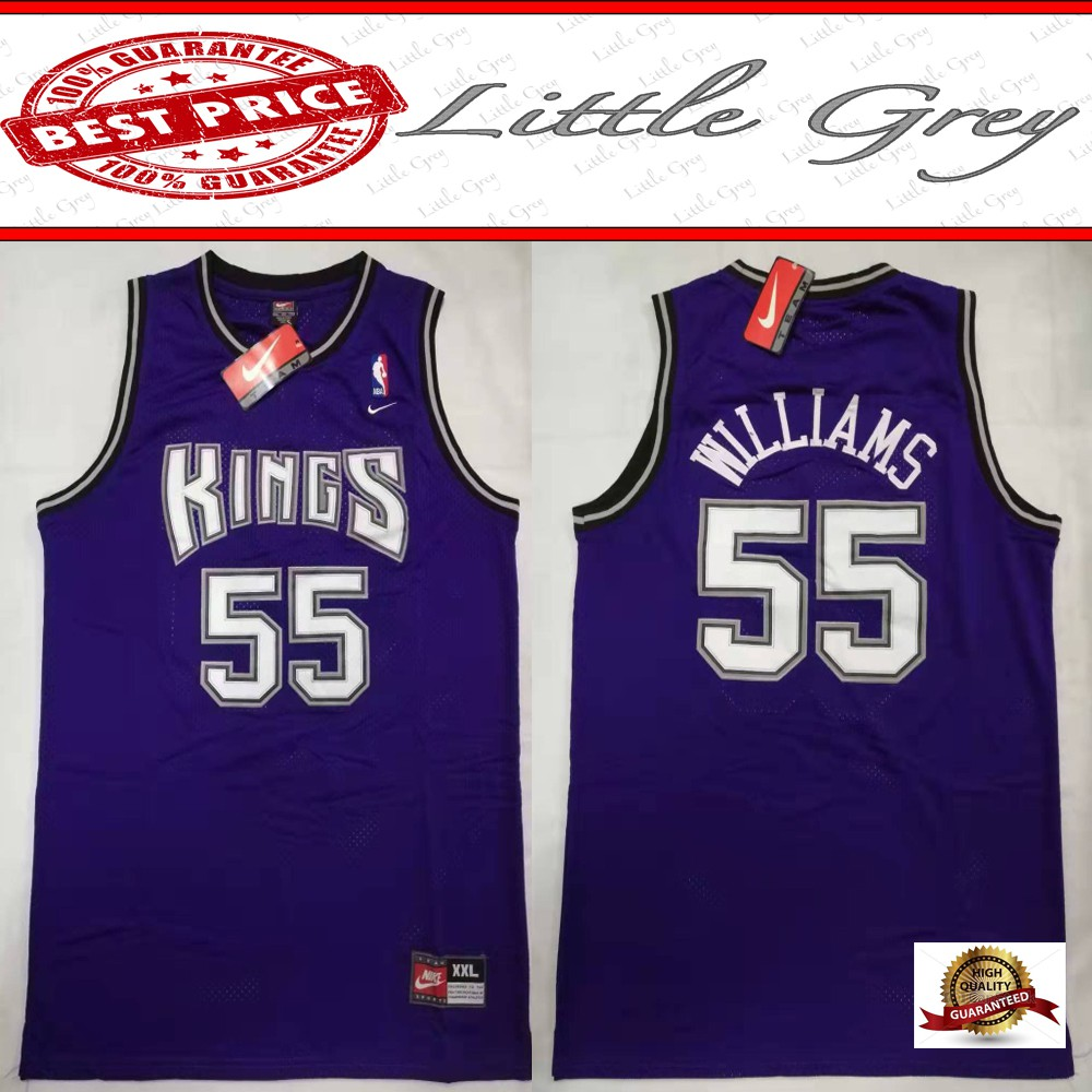 separation shoes 5ee02 486c6 NBA KINGS 55 Jason Williams Basketball Jersey