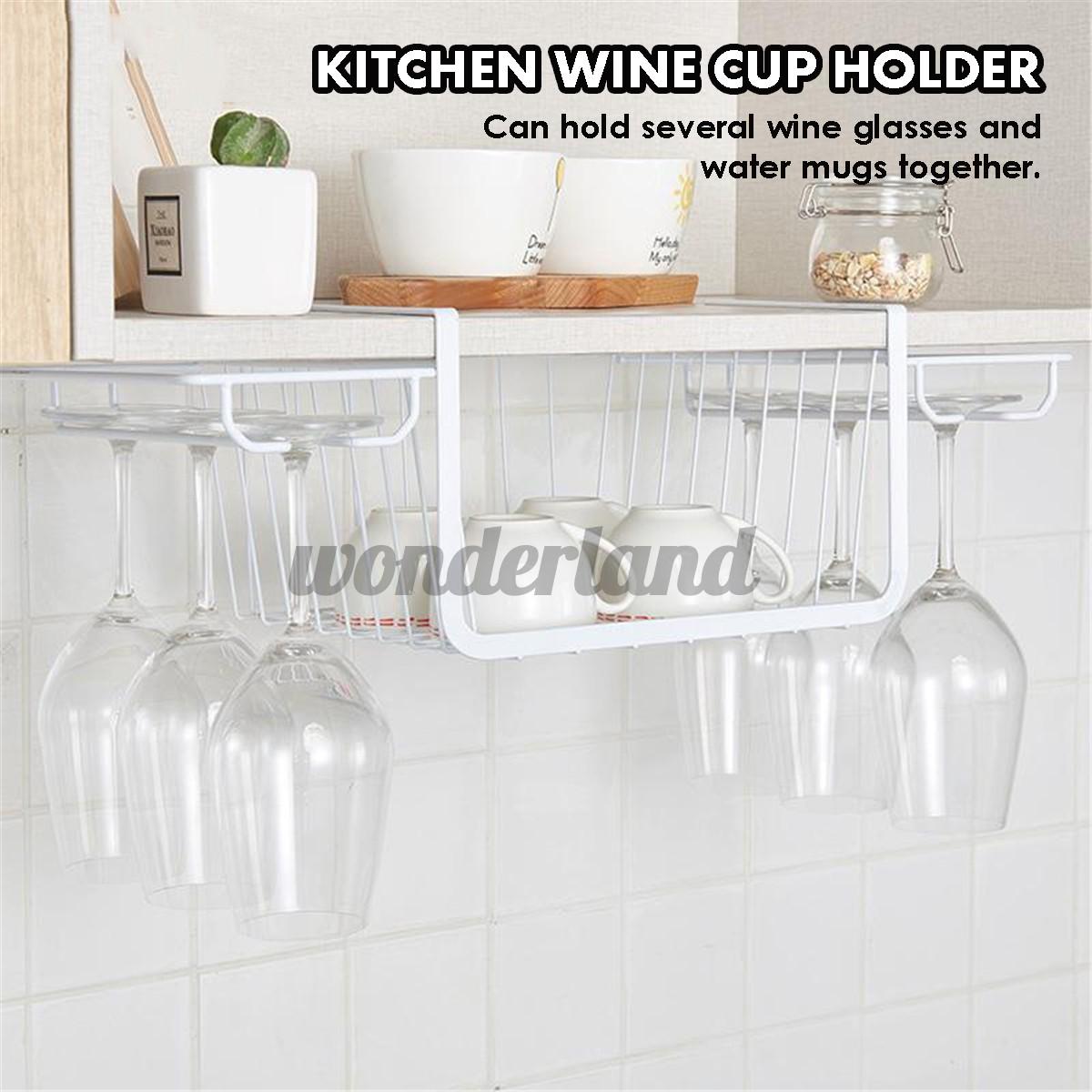 Hanging Wine Glass Cup Holder Rack Goblet Stemware Home Bar Mug Storage Shelf Shopee Philippines