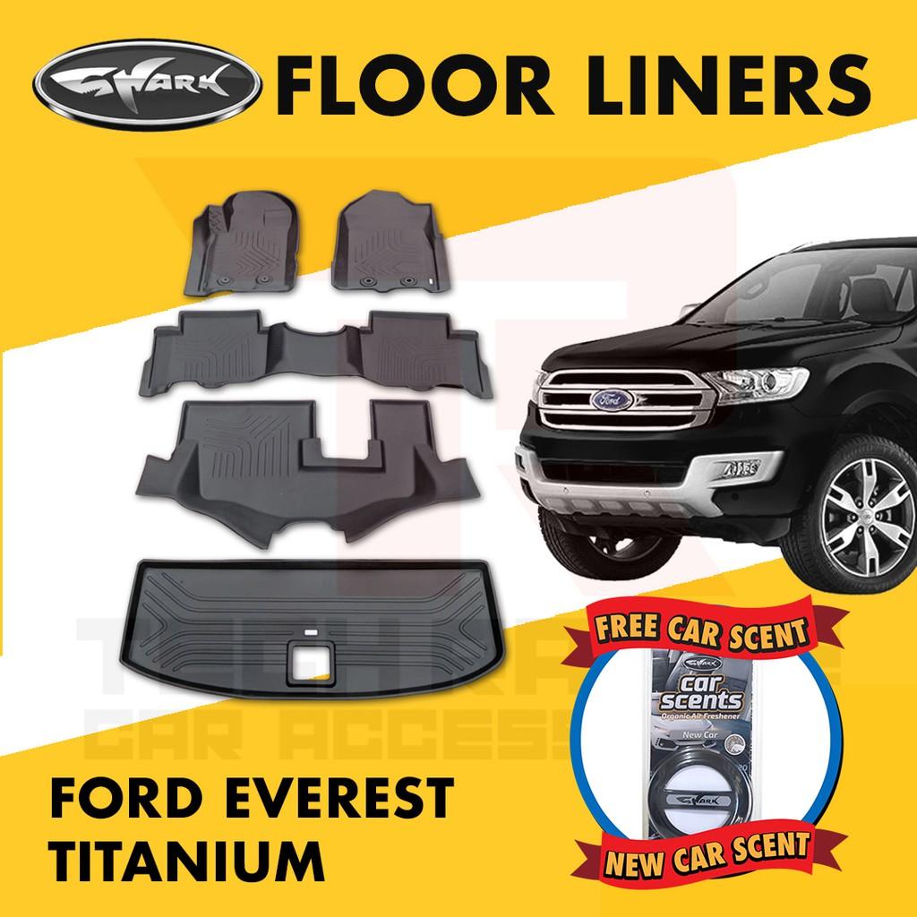 Shark Floorliner Car Matting Ford Everest Titanium 2015 2020 Shopee Philippines