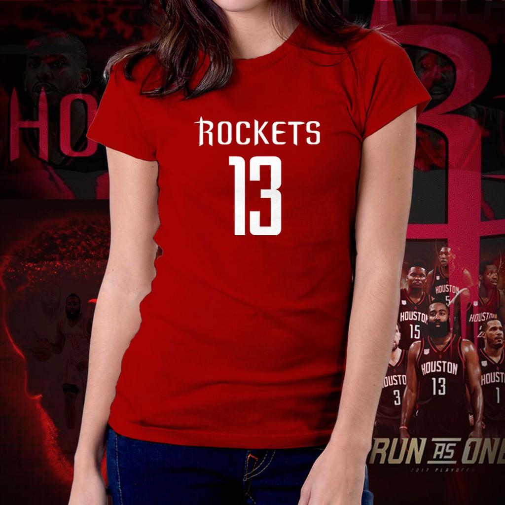 0ca49a28a Houston Rockets NBA Basketball Run As One Shirt for Women 06 | Shopee  Philippines