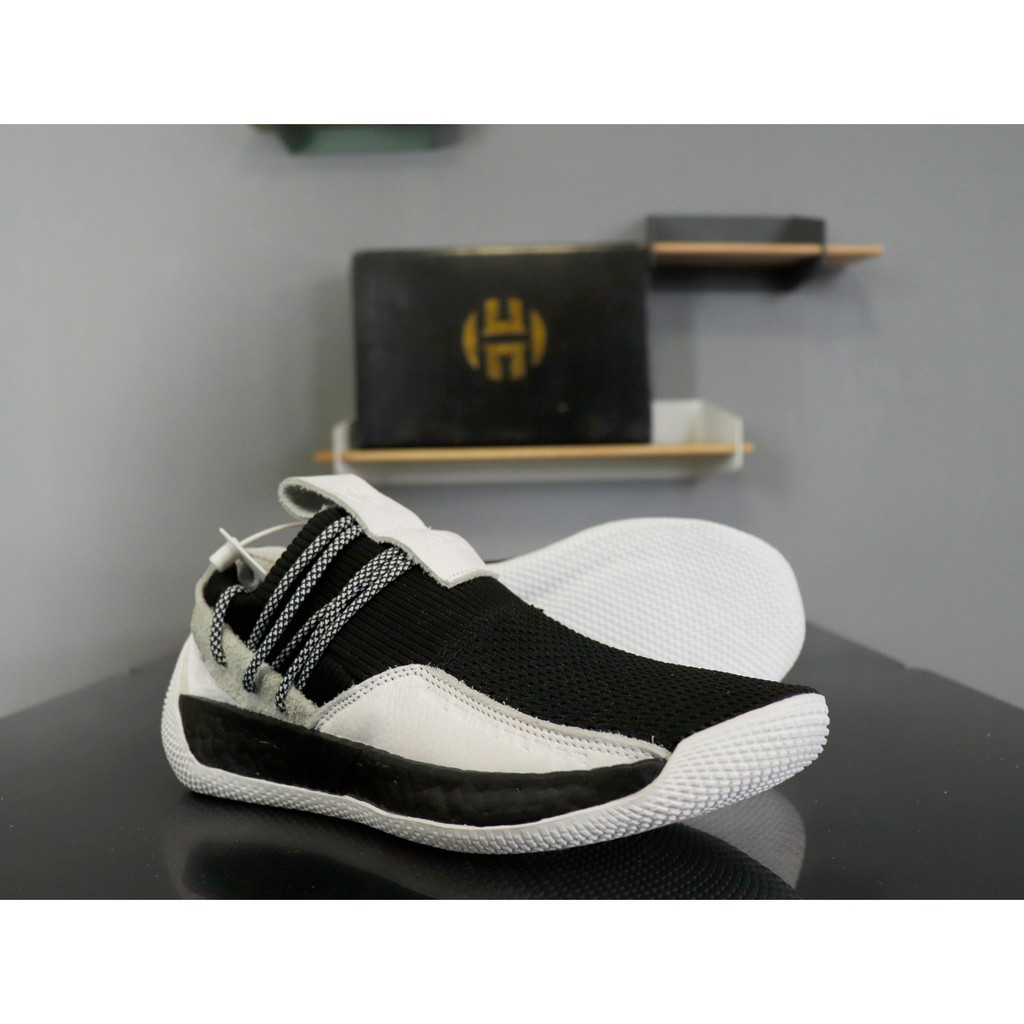 [Kong]Adidas Harden LS 2 Buckle AC7439 black and white Harden 2 generation socks