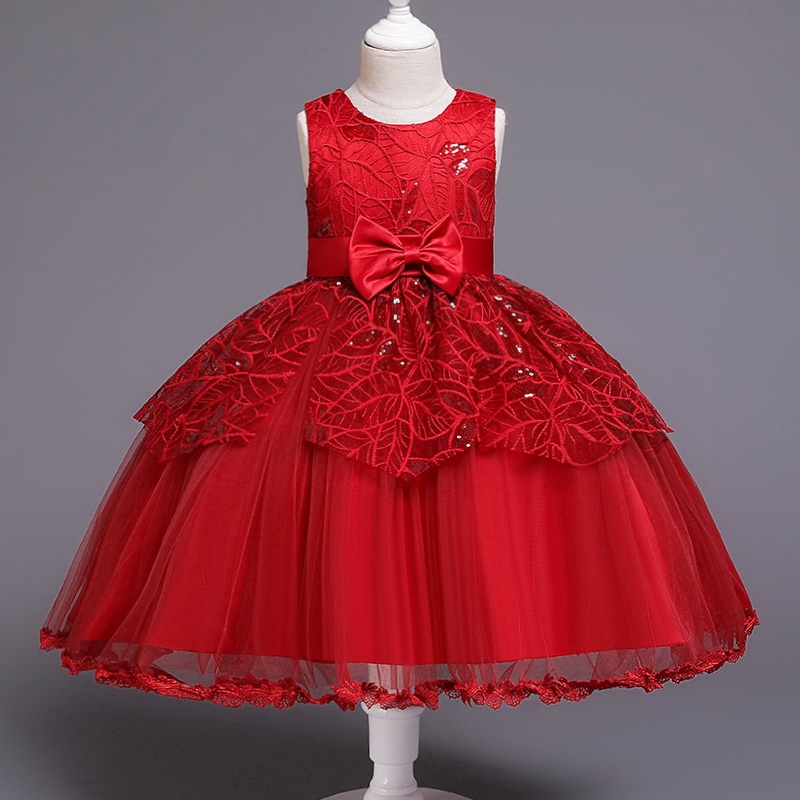 Girls Dresses Toddler Kids Baby Clothes Lace Embroidery Tulle Party Princess