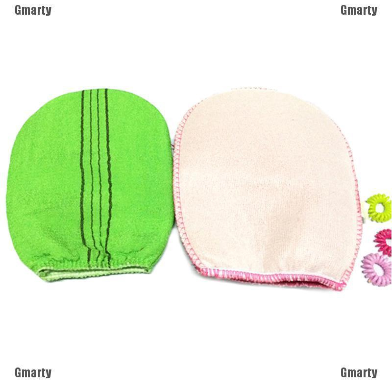 2 colors Korean Italy Exfoliating Body-Scrub Glove Towel Green Red BS