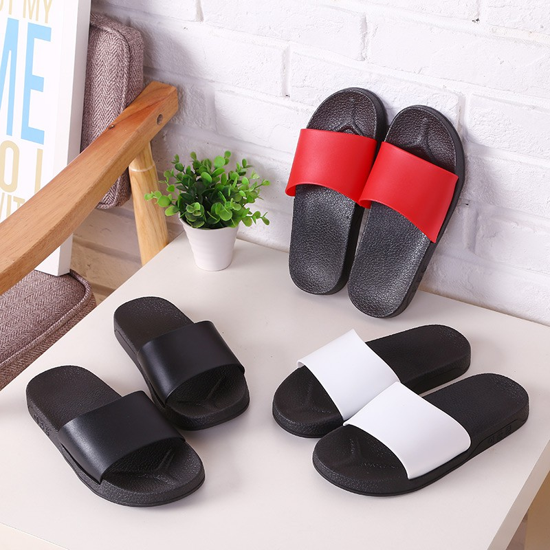 Flip Flops Shoes Careful Slippers Mens Summer New Flip Flops Mens Non-slip Rubber Korean Version Of The Tide Slippers Students Beach Clip Feet Attractive And Durable