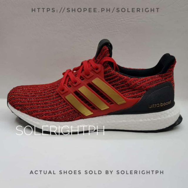 Asalto pacífico muelle  Game of Thrones x Adidas Ultra Boost 'House Lannister' | Shopee Philippines