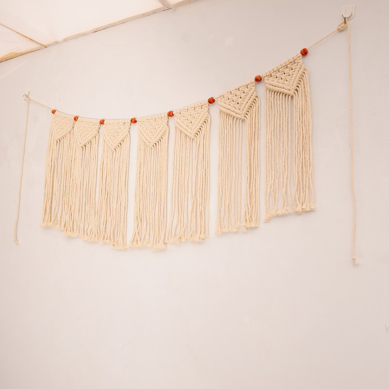 Macrame Woven Wall Hanging Fringe Garland Banner Bohemian Wall Decor Woven Home Decoration For Apartment Bedroom Living Room Gallery Shopee Philippines