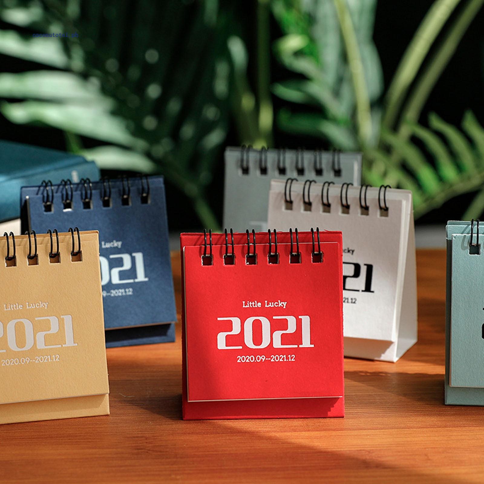 2021 Mini Desk Calendar Stand Up Flip