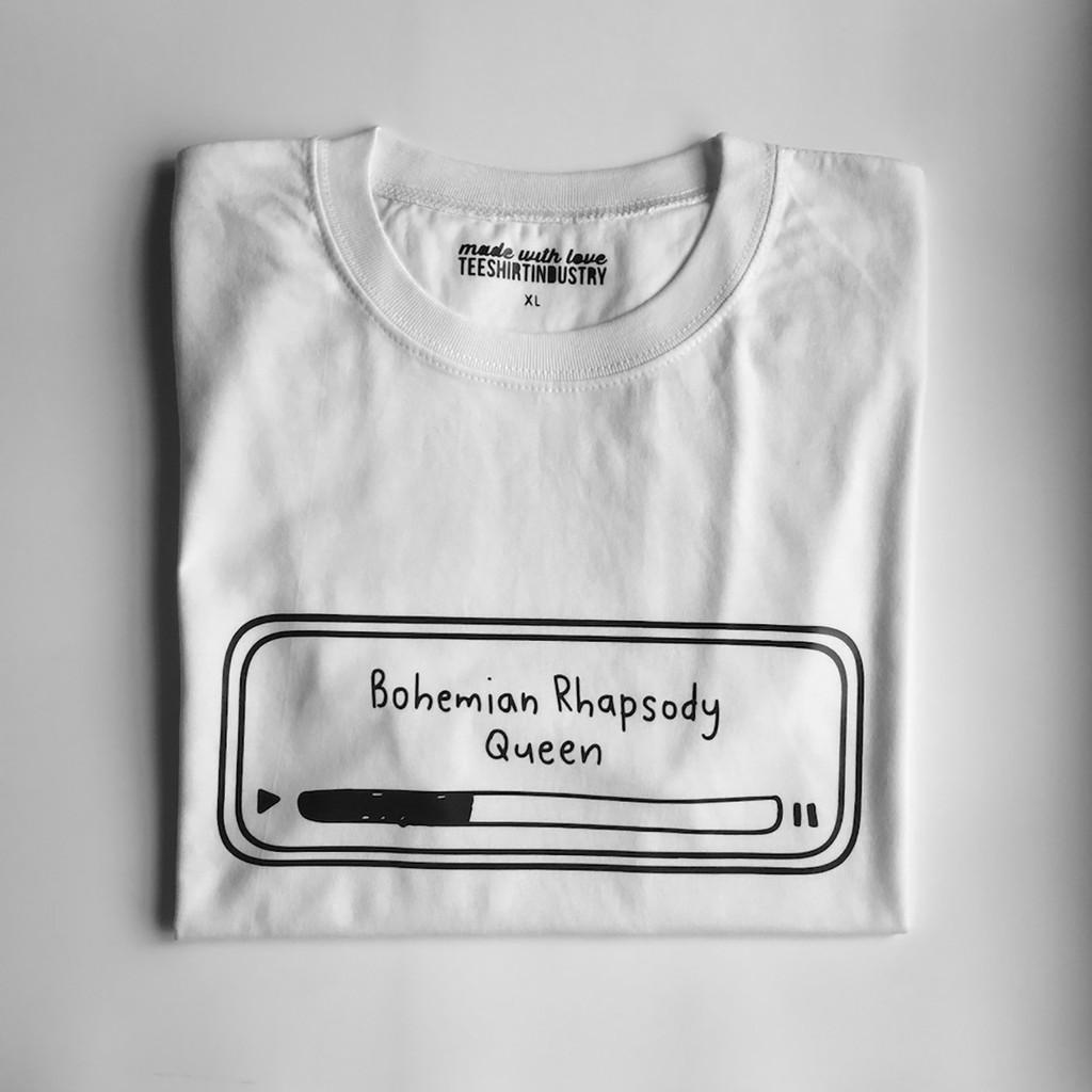 d4e1e81b Custom Freddie Mercury Queen Bohemian Rhapsody Cotton Mens T Shirt Rock  Song Lyric Men Tee Black | Shopee Philippines