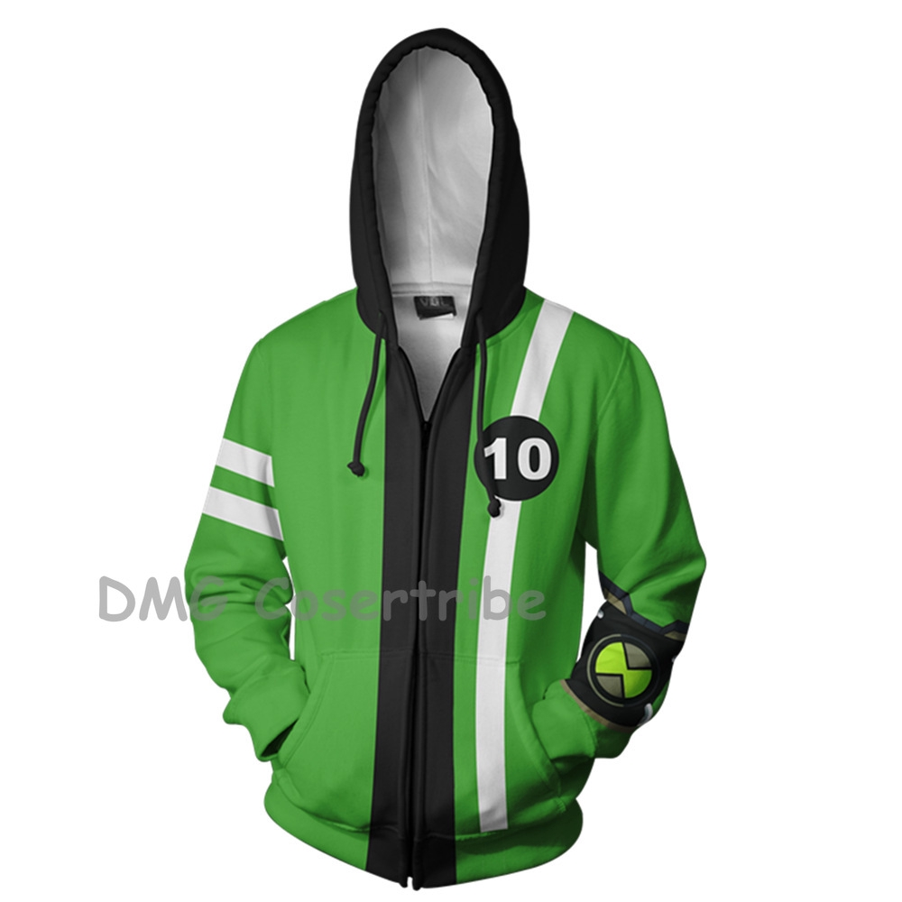 Ben 10 Tennyson Alien Force Sweatshirt Hoodie Jacket Cosplay Costume Coat Suit