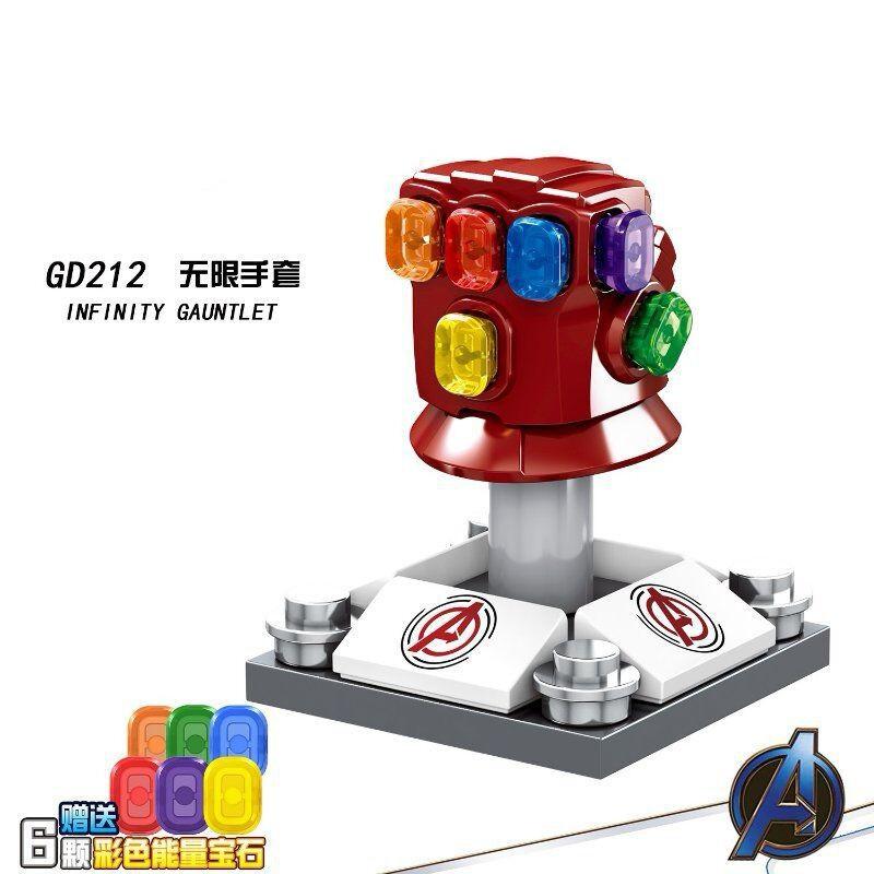 Lego Compatible Building Blocks Avengers Endgame Ironman Infinity Gauntlet  Toys