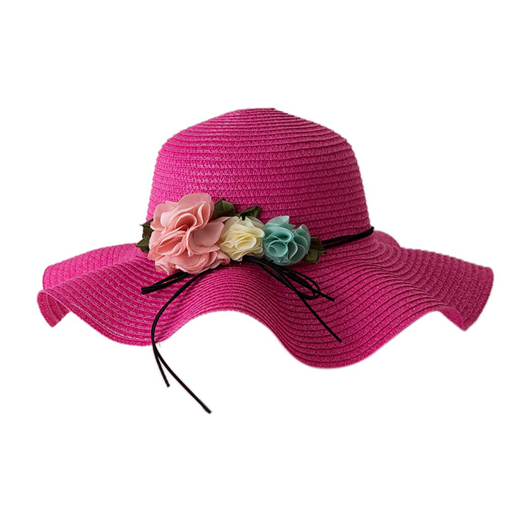 kids Hats ☀RJ☀Summer Baby Flower Breathable Hat Straw Sun Hat Kids Hat Boy Girls Hats  | Shopee Philippines