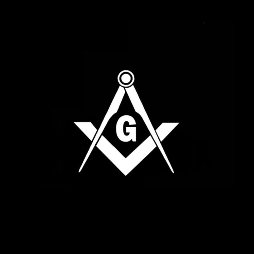 Choose Size /& Color Freemason Logo Vinyl Sticker Decal Symbol Templar Masonic
