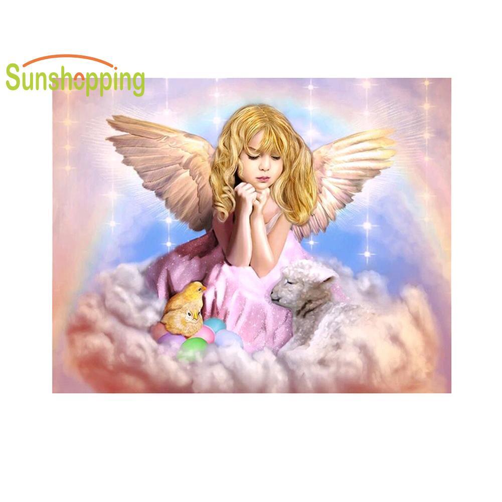 5D Diamond Painting Little Girl Angel Pray Full Drill Diamond Embroidery Full Package Kit Diamond Mosaic Painting Rhinestones Gift