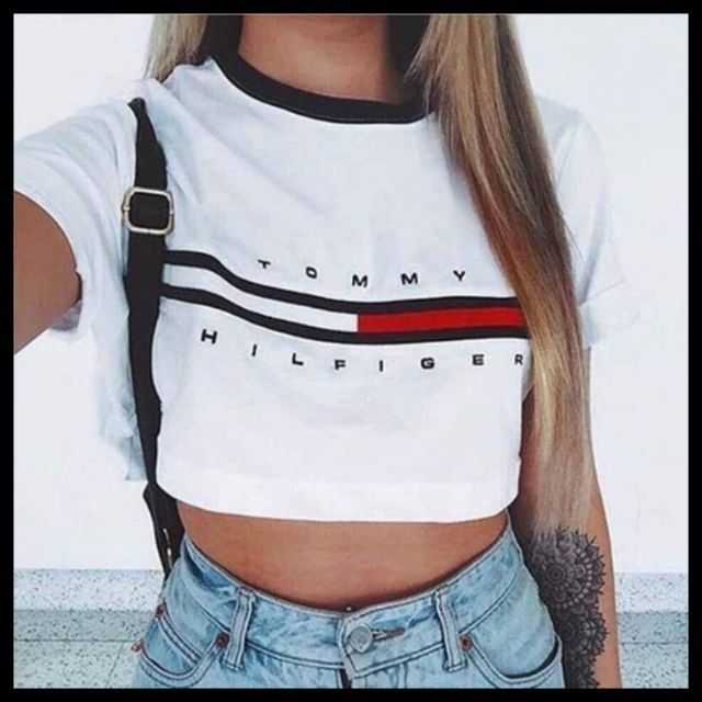 cdc9a844748 Trendy Statement Shirt Tees Ringer Semi CropTop | Shopee Philippines