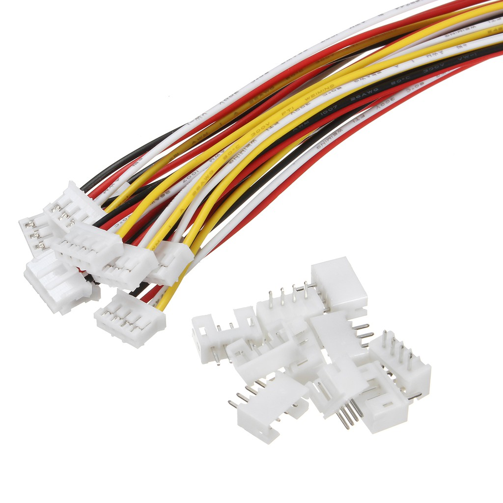 5 sets Micro JST 2.0mm PH 6-Pin Male Female Connector Plug With Wire 300mm