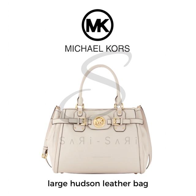 c5b21e6c5e90 Michael Kors Large Hudson Leather Bag