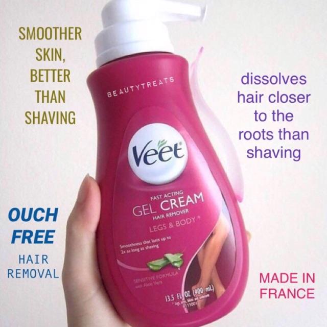 Veet Fast Acting Gel Cream Hair Remover Big Bottle Shopee