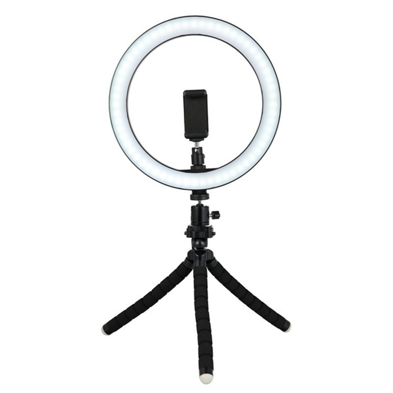 Color : C, Size : 16cm Phone Holder Fill Light Webcast Beauty Light//USB Charging Ringlight Ring Light LED Floor Ring Light Set with Selfie Stick and Tripod
