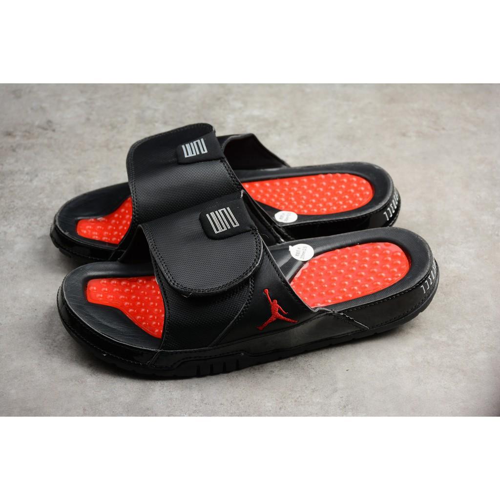6ecd7a652b9 Air Jordan 11 Hydro Slides Bred Sandals AA1336-001 | Shopee Philippines