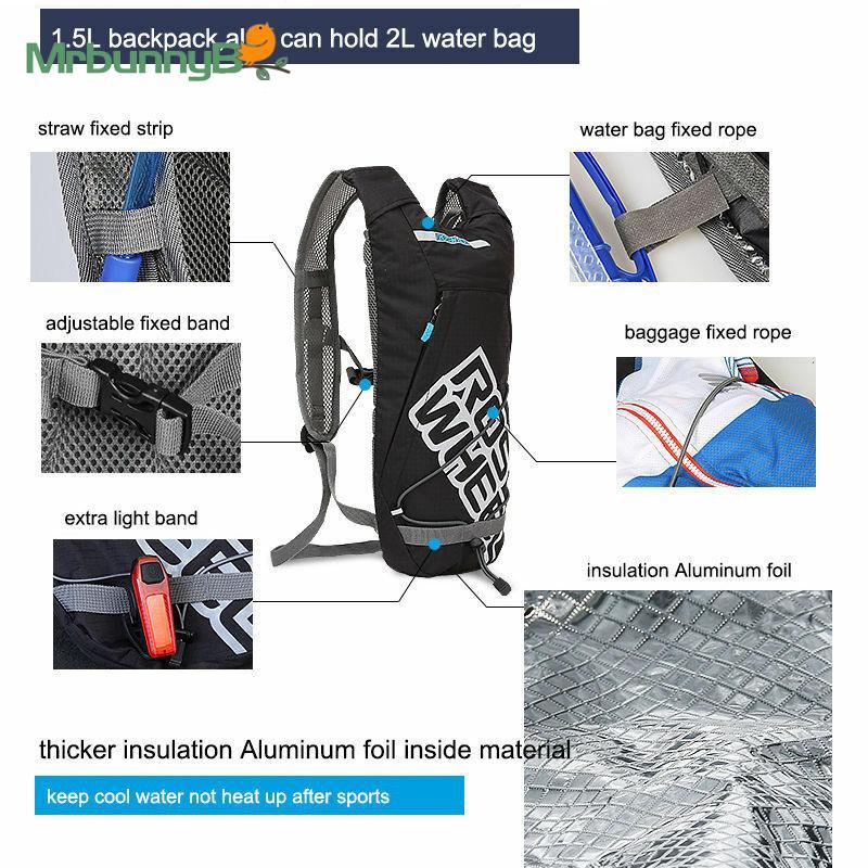 Details about  /1.5//2.5L Hydration Backpack Bicycle Water Bladder Bag Lightweight Shoulder Pack