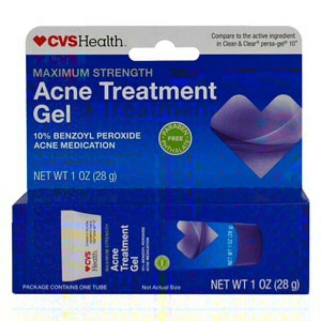 Authentic Cvs Health Acne Treatment Gel 10 Benzoyl Peroxide