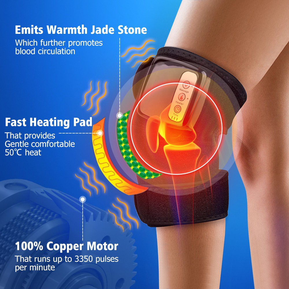 Knee Massager Wireless Electric Heating Far Infrared Joint Brace Support  Vibrador Back   Shopee Philippines