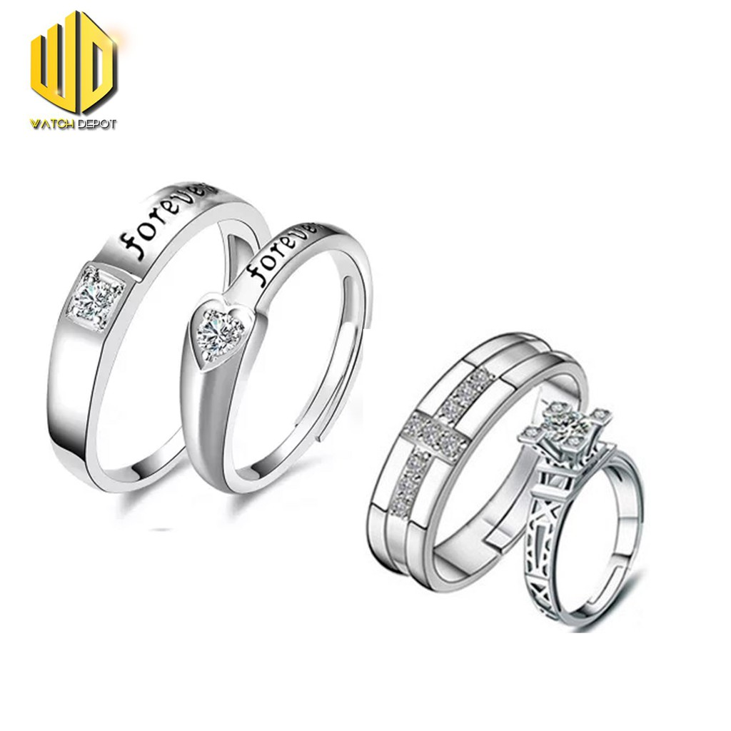 58381f7c8 Tata silver 92.5%Italy silver genuine couple rings/ for 1pc | Shopee  Philippines