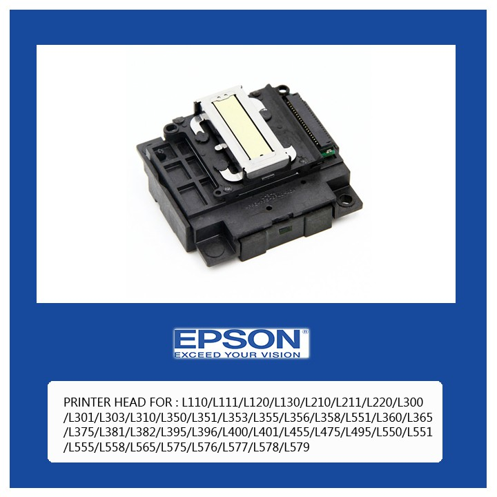 EPSON PRINT HEAD: L110/L111/L120/L130/L210/L211/L220/L300  /L301/L303/L310/L350/L351/L353/L355/L356