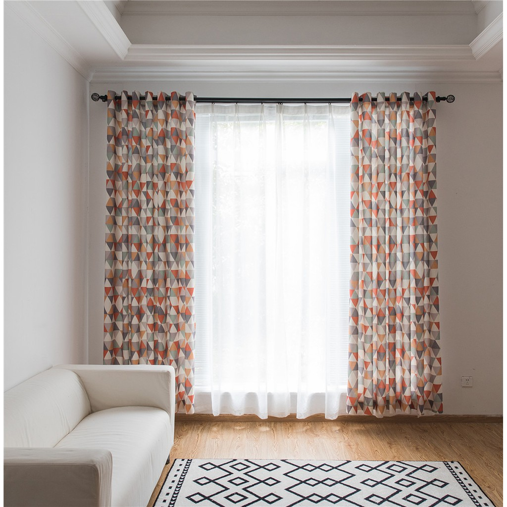 Window Curtain Grommet Ring Top Living Room Drapes Blinds